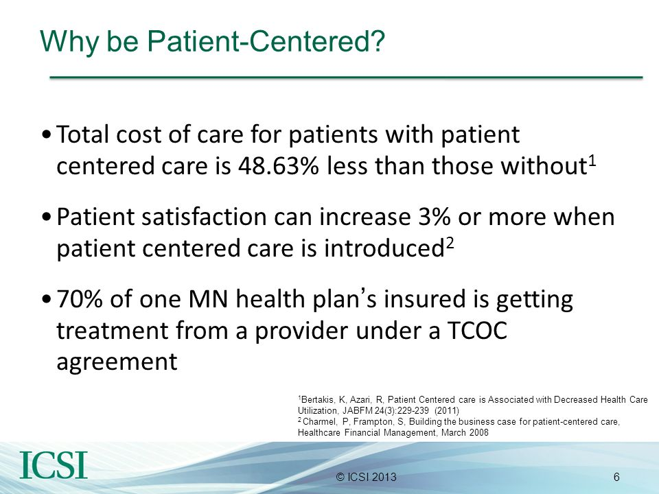 Why be Patient-Centered