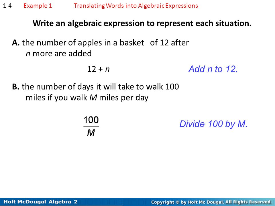 write an algebraic expression In this interactive math lesson, students learn how to write and read algebraic expressions by using parentheses this lesson helps students understand complex math concepts in an accessible way.