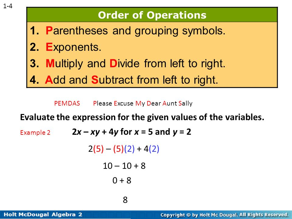 exponents in paranthesis