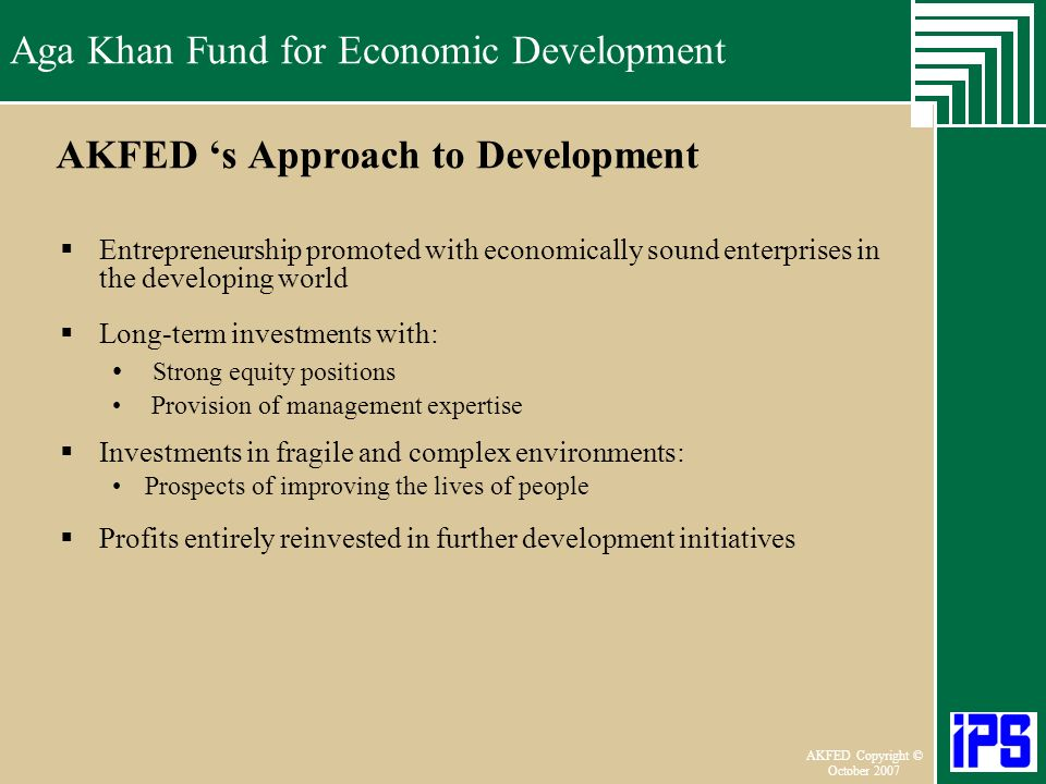 AKFED 's Approach to Development