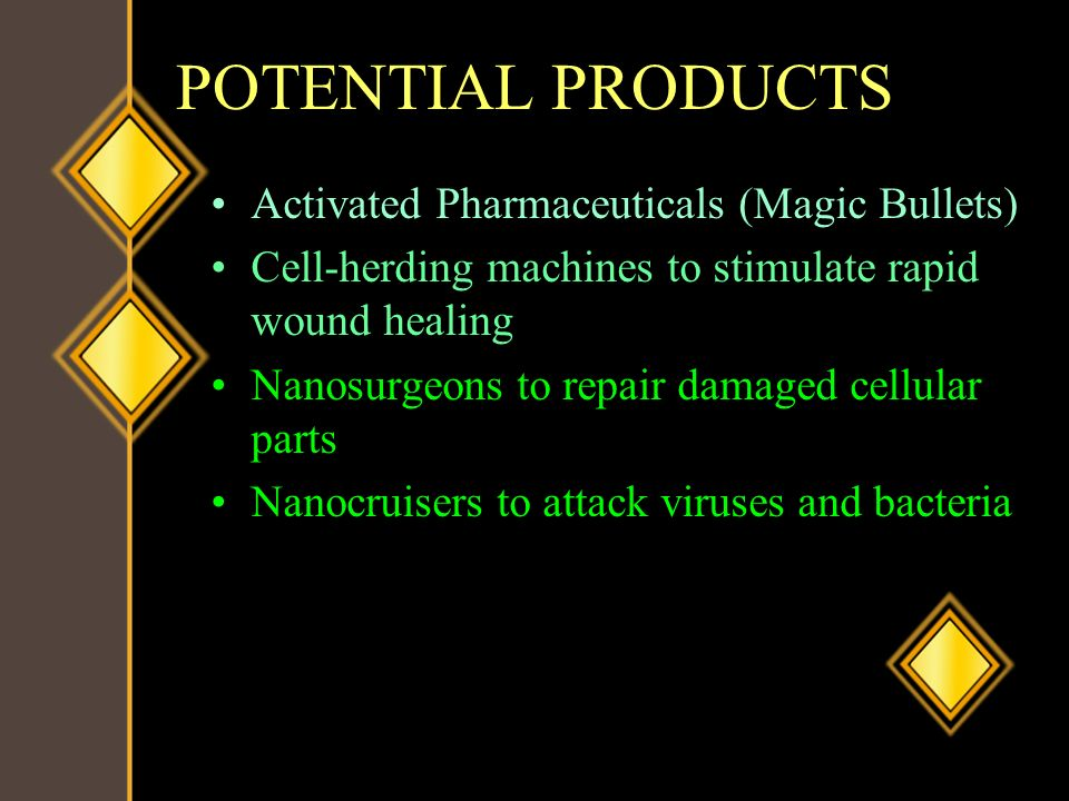 POTENTIAL PRODUCTS Activated Pharmaceuticals (Magic Bullets)