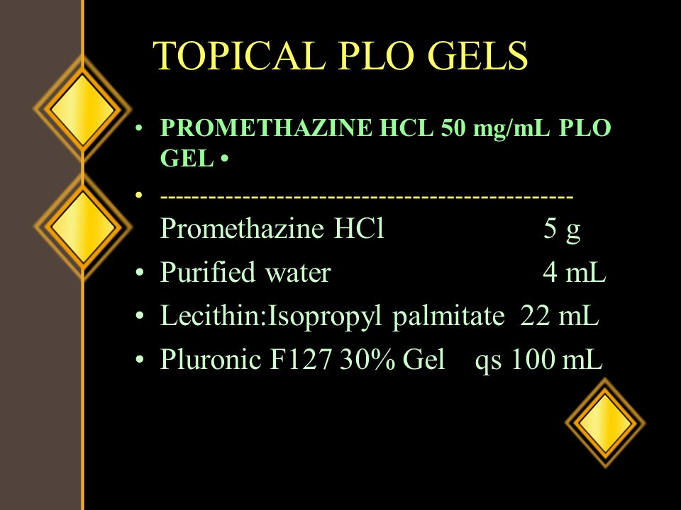 TOPICAL PLO GELS Purified water 4 mL