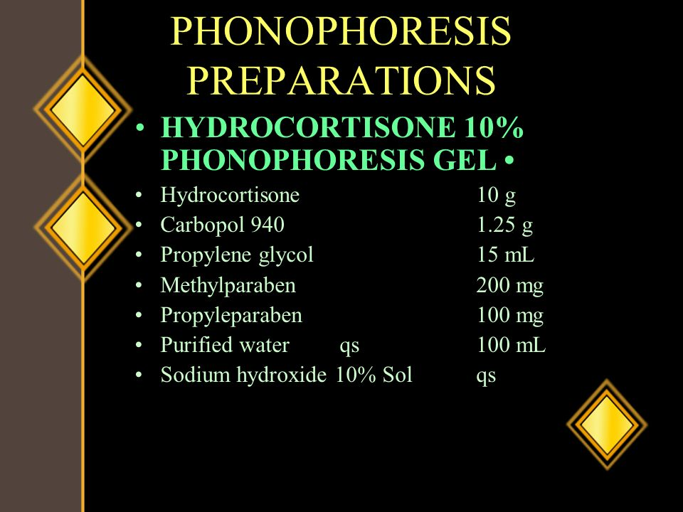 PHONOPHORESIS PREPARATIONS