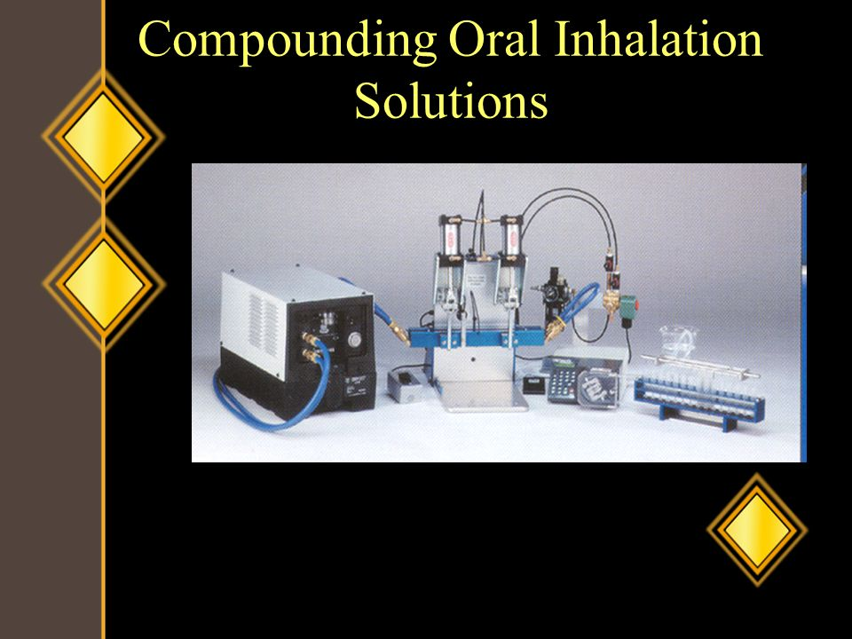 Compounding Oral Inhalation Solutions