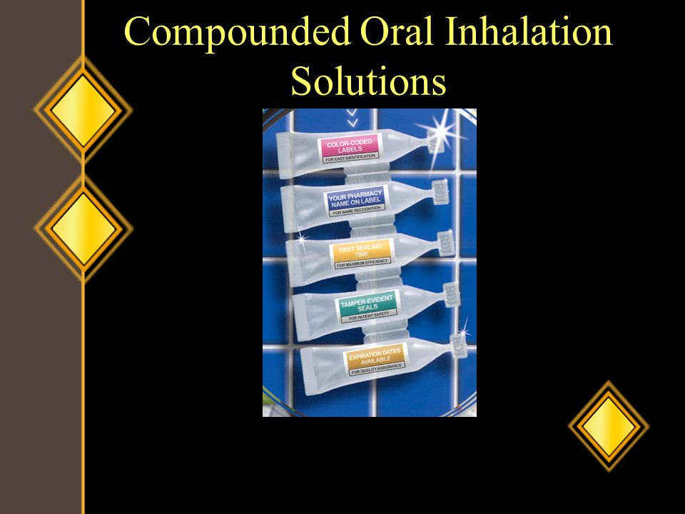 Compounded Oral Inhalation Solutions