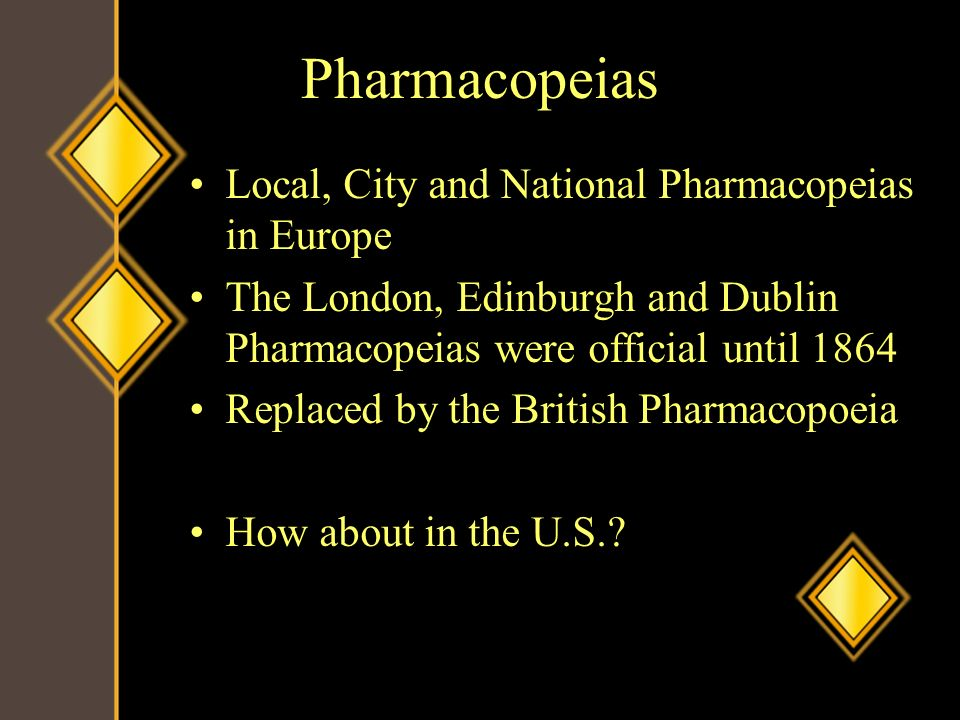 Pharmacopeias Local, City and National Pharmacopeias in Europe
