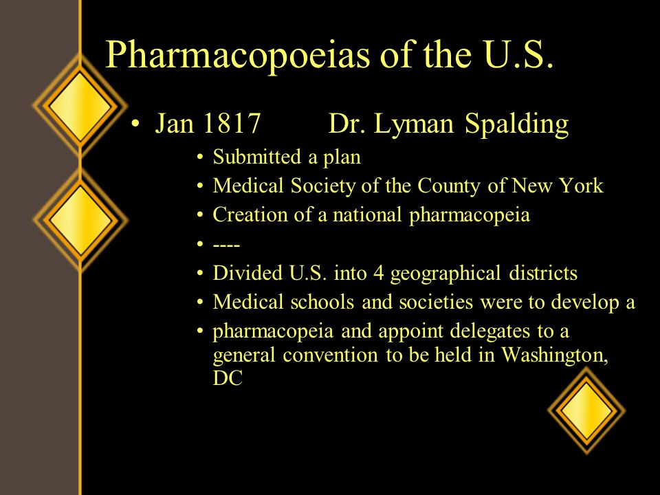 Pharmacopoeias of the U.S.