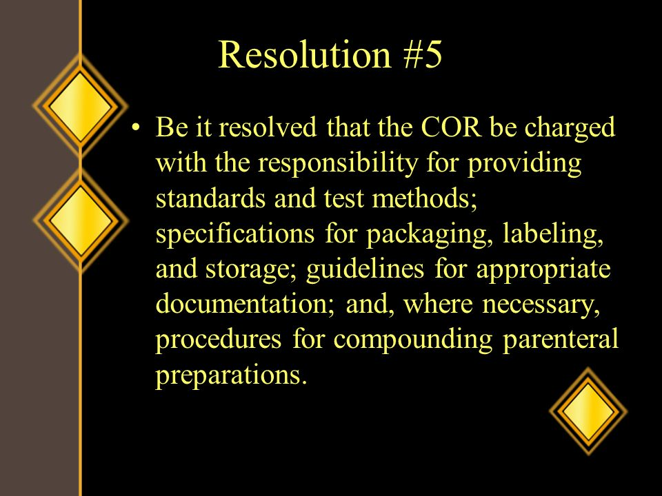 Resolution #5