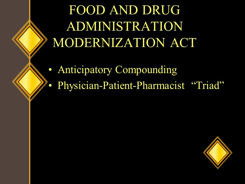 FOOD AND DRUG ADMINISTRATION MODERNIZATION ACT
