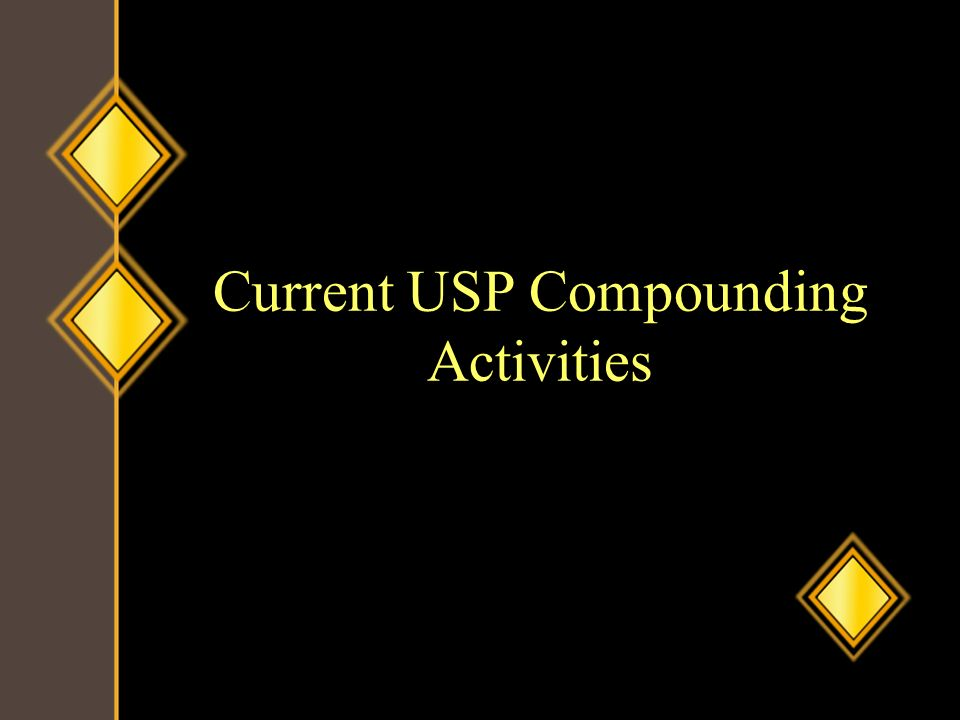 Current USP Compounding Activities