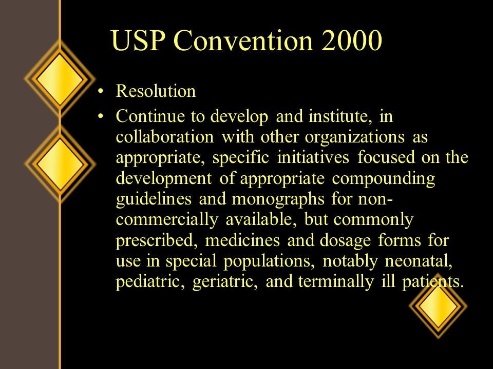 USP Convention 2000 Resolution