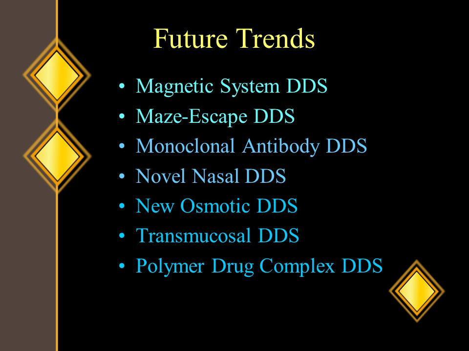 Future Trends Magnetic System DDS Maze-Escape DDS