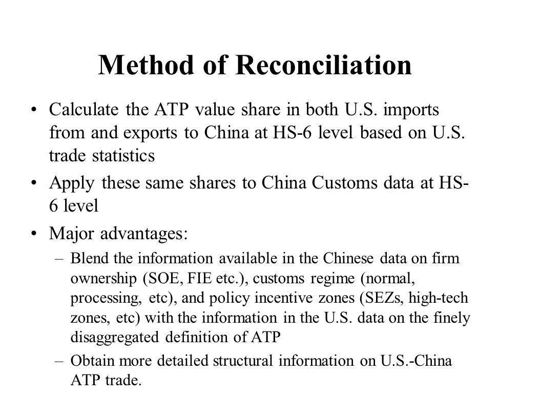 Method of Reconciliation