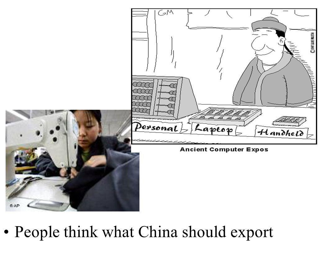People think what China should export