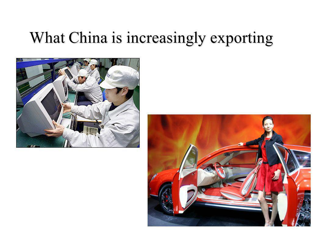 What China is increasingly exporting
