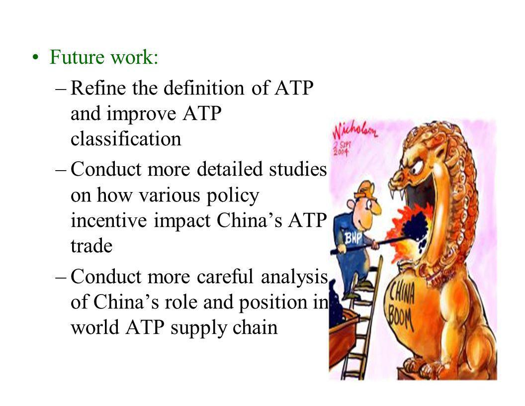 Future work: Refine the definition of ATP and improve ATP classification.