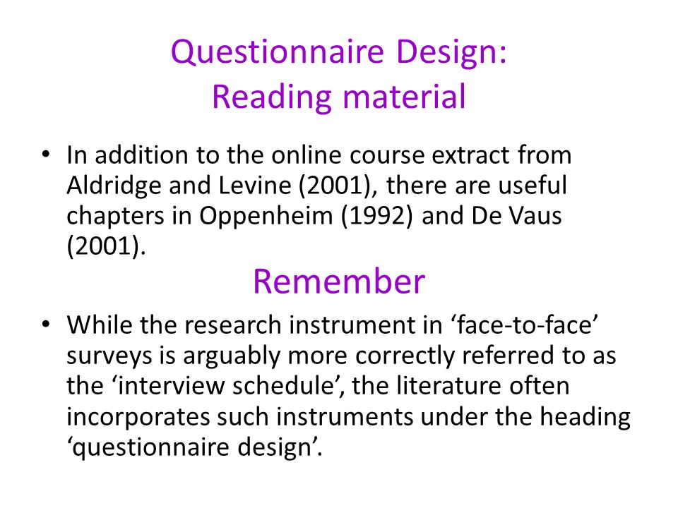 the questionnaire development and scaling technique Mixed-method strategies included qualitative interviewing to inform scale development and three analytical approaches to produce specific codes, themes, and domains this article describes the process by which one study utilized qualitative methods to create items for a multi dimensional scale to measure twelve step program affiliation.