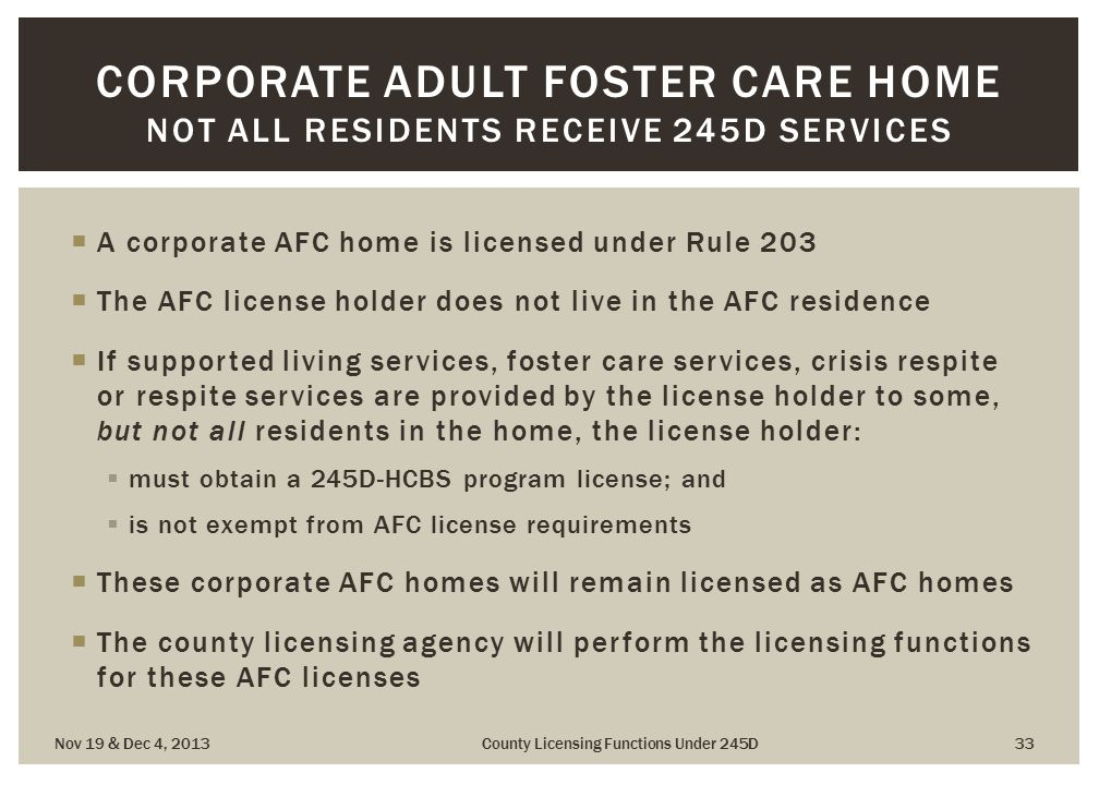 adult sandy care counrty foster