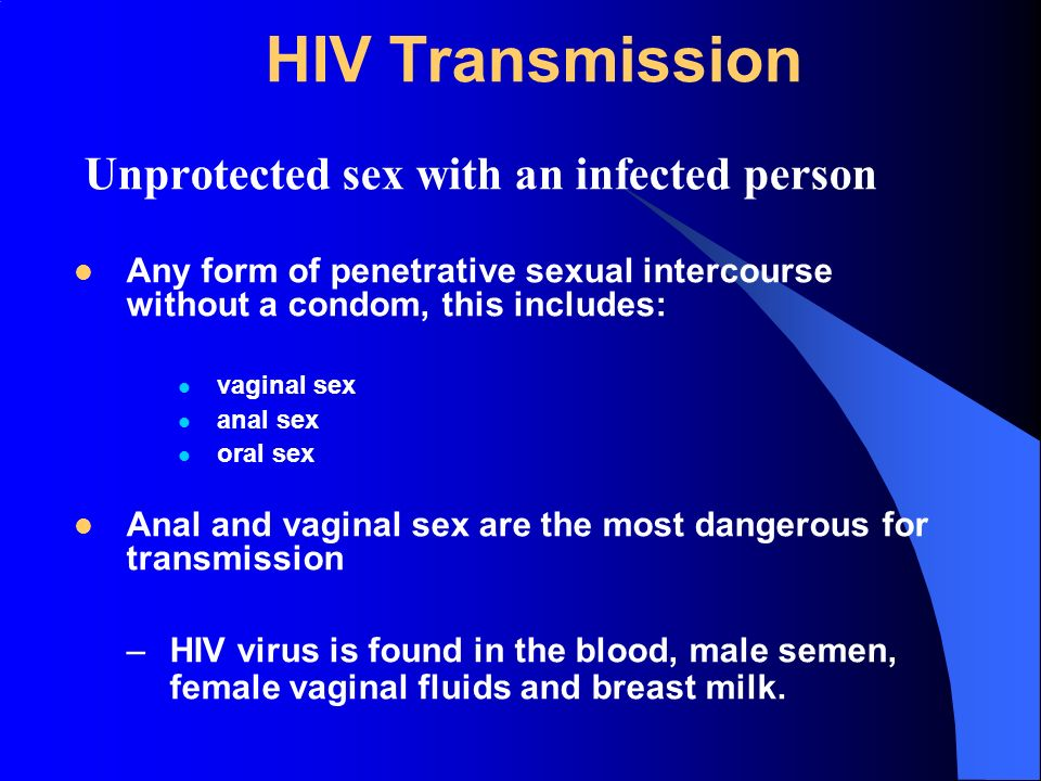 from Adonis hiv infection from oral sex