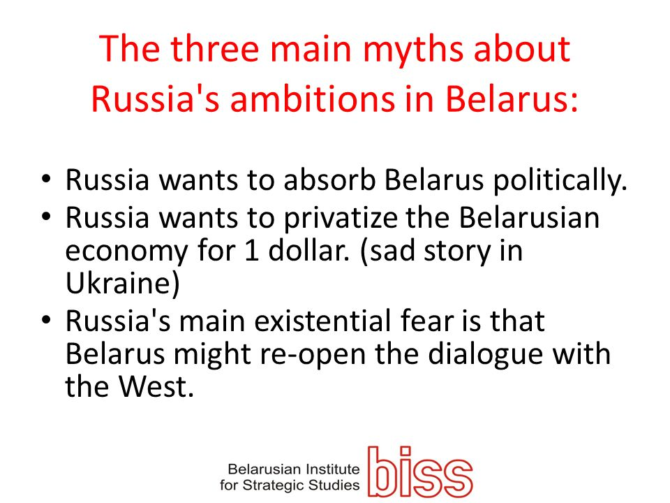 The three main myths about Russia s ambitions in Belarus: