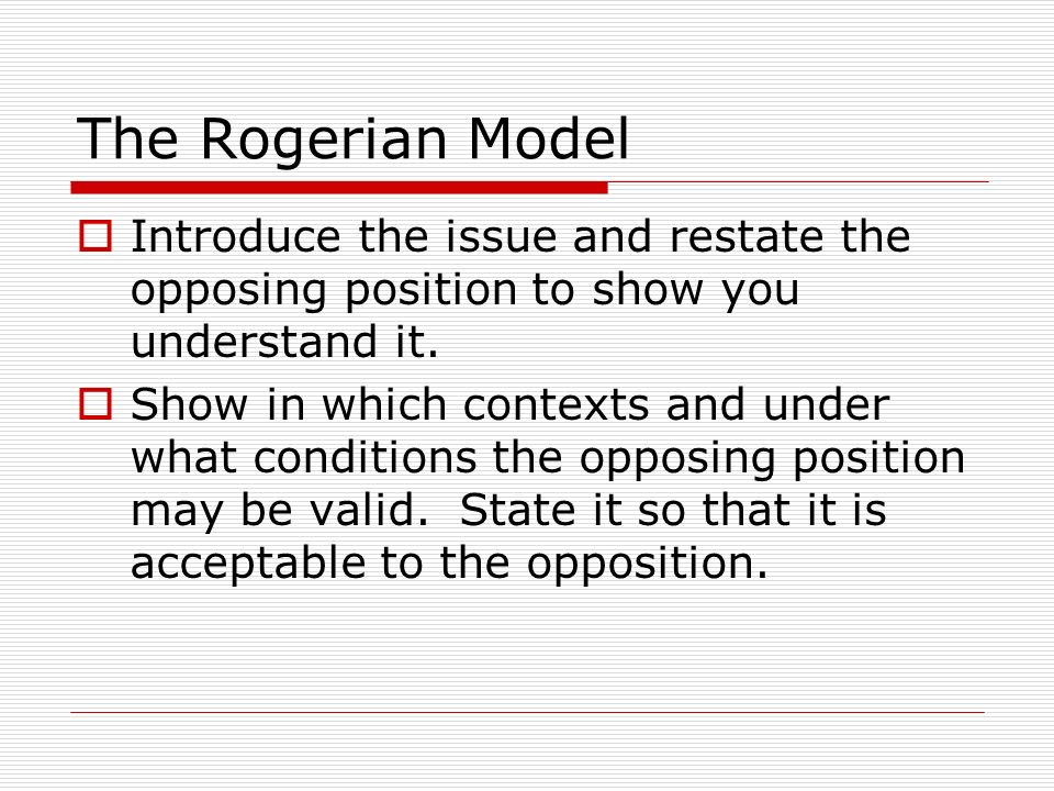 where does the thesis go in a rogerian argument Free rogerian argument papers the design argument fails the design argument does fail due to its weaknesses true you'll go to a lovely place.