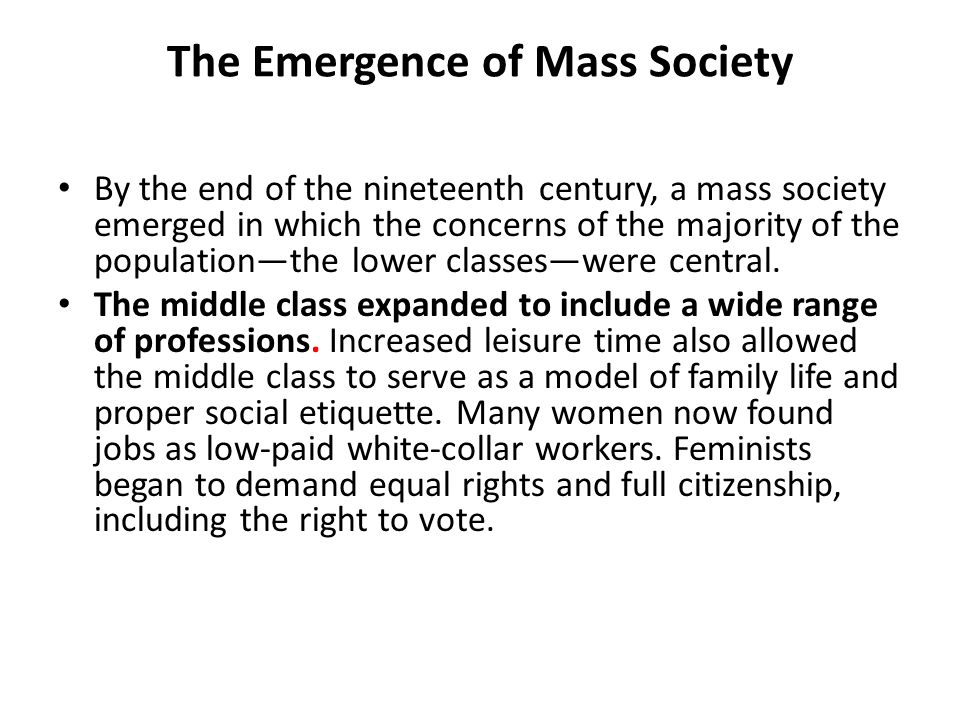 mass society Purchase mass society - 1st edition print book & e-book isbn 9780122843501, 9781483261188.