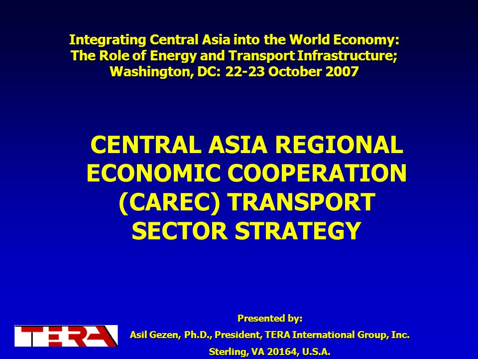 Integrating Central Asia into the World Economy: