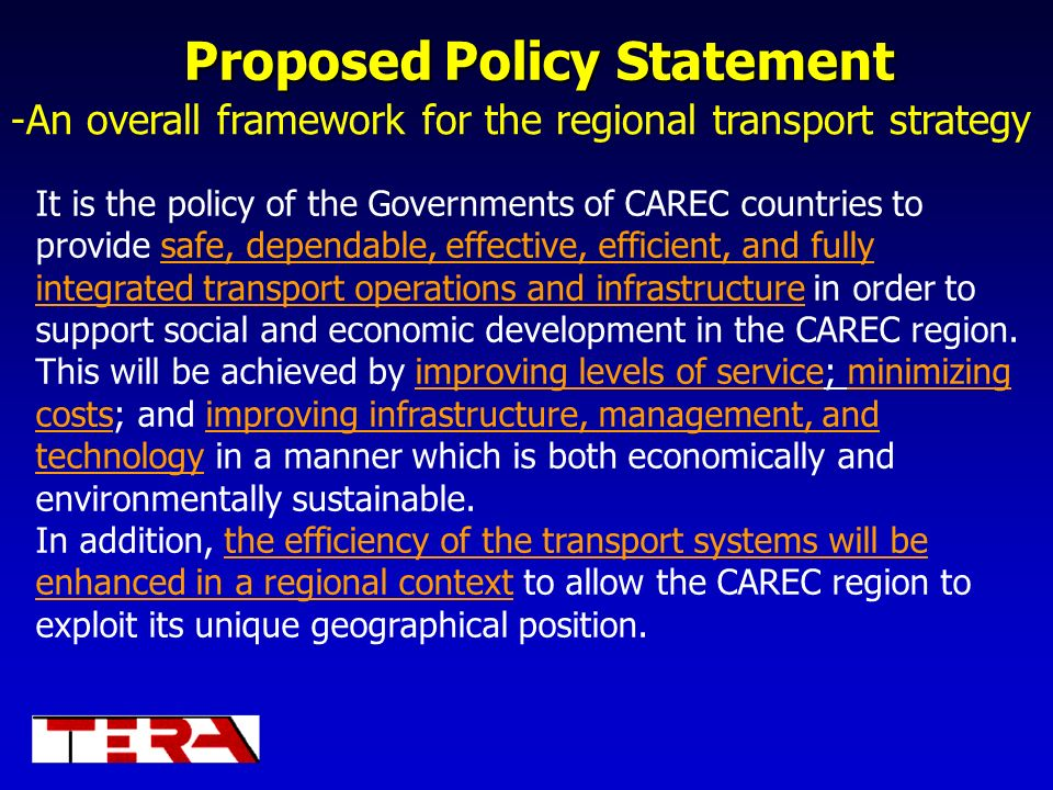 Proposed Policy Statement