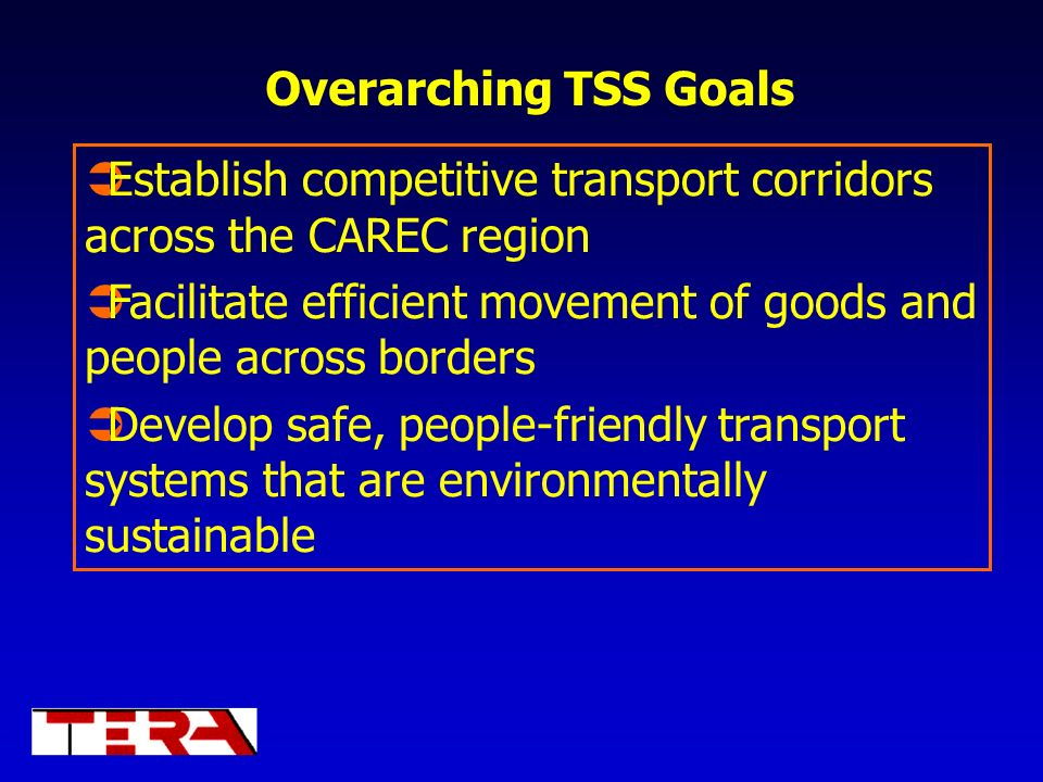 Establish competitive transport corridors across the CAREC region