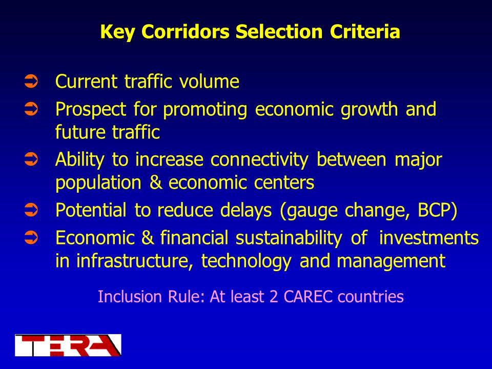Key Corridors Selection Criteria