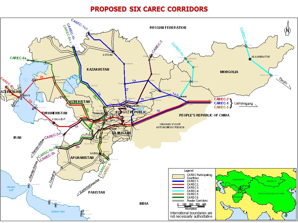 PROPOSED SIX CAREC CORRIDORS
