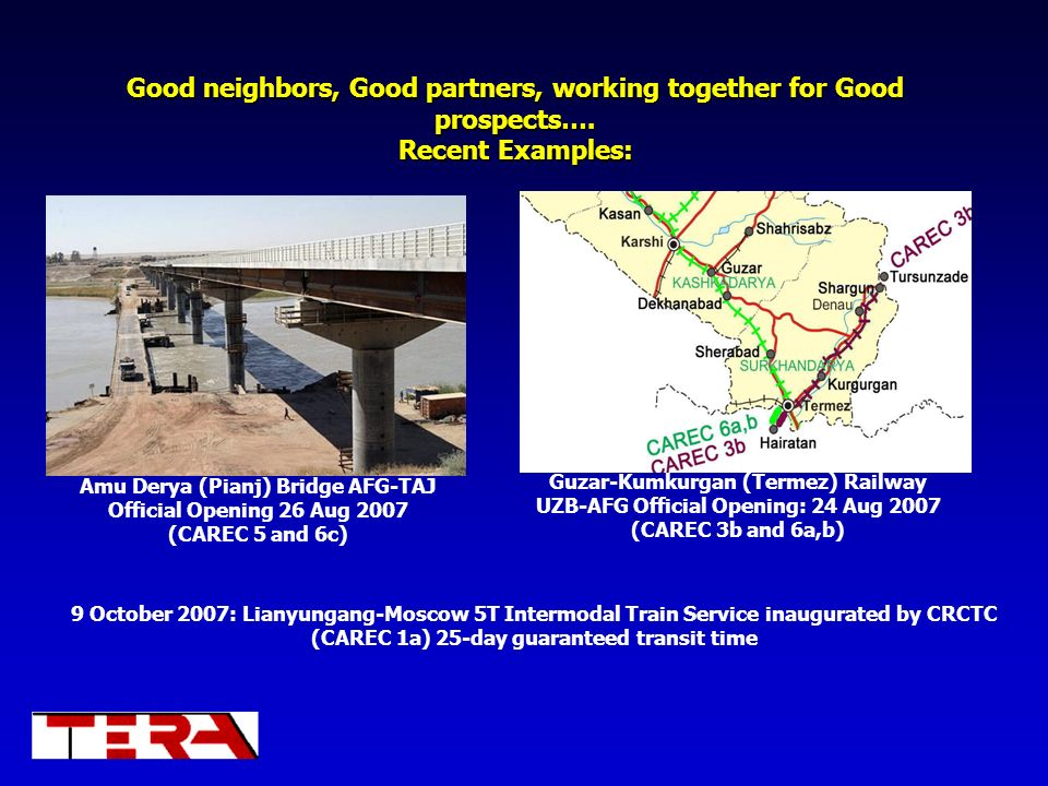 Good neighbors, Good partners, working together for Good prospects…