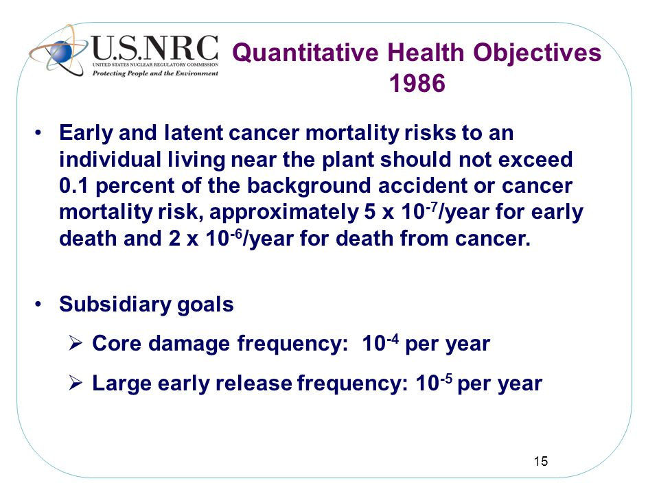 Quantitative Health Objectives 1986