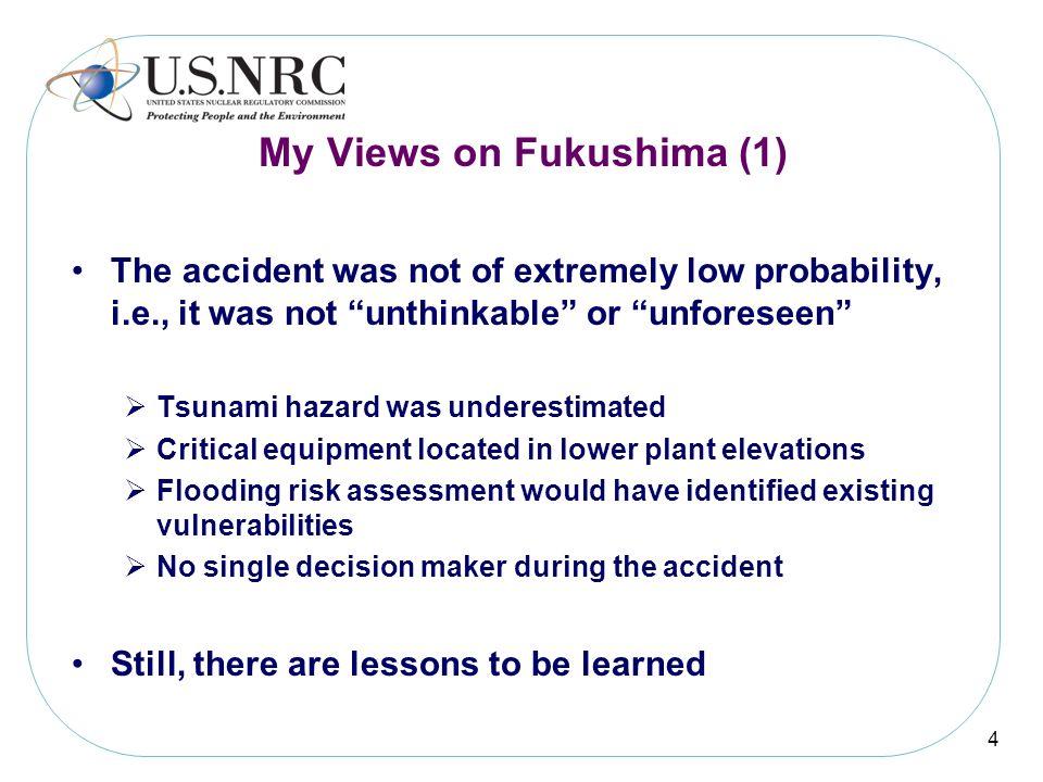 My Views on Fukushima (1)