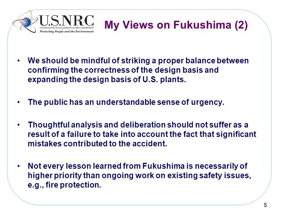 My Views on Fukushima (2)