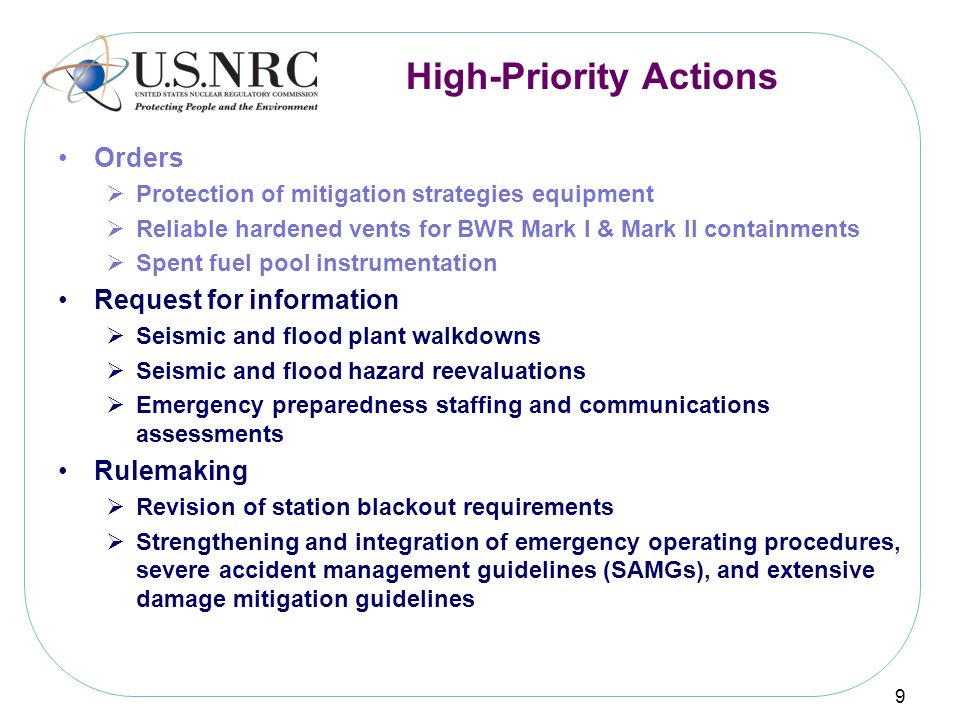 High-Priority Actions