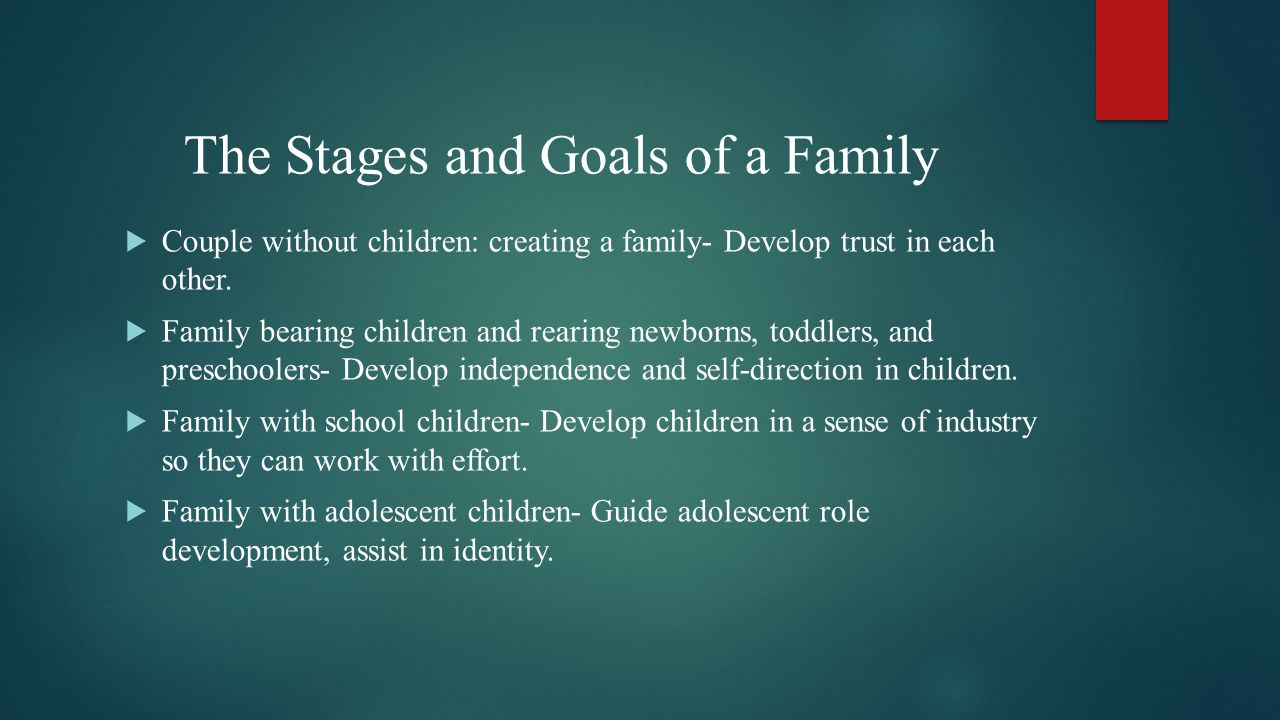 The Stages and Goals of a Family
