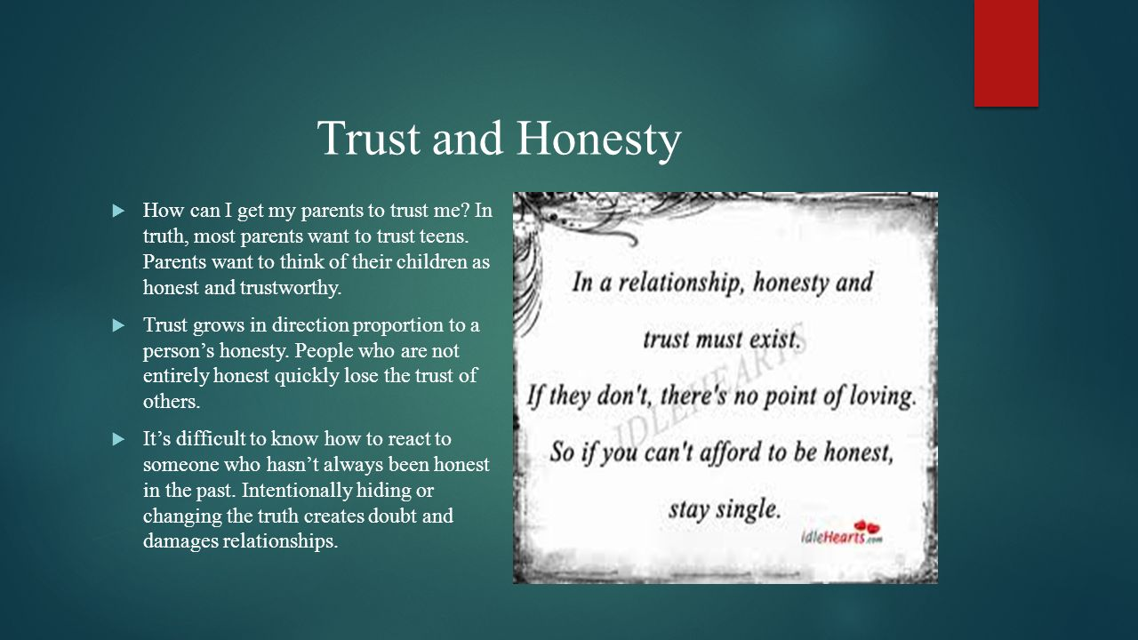 Trust and Honesty