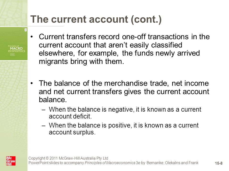 Current account deficit in australia and