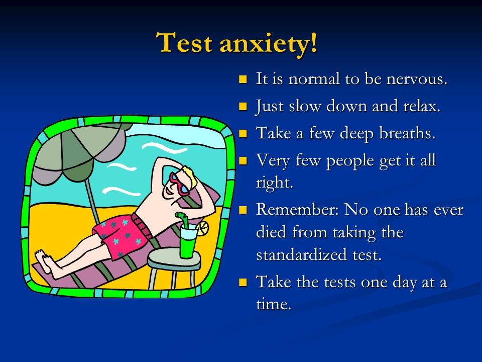 Test anxiety! It is normal to be nervous. Just slow down and relax.
