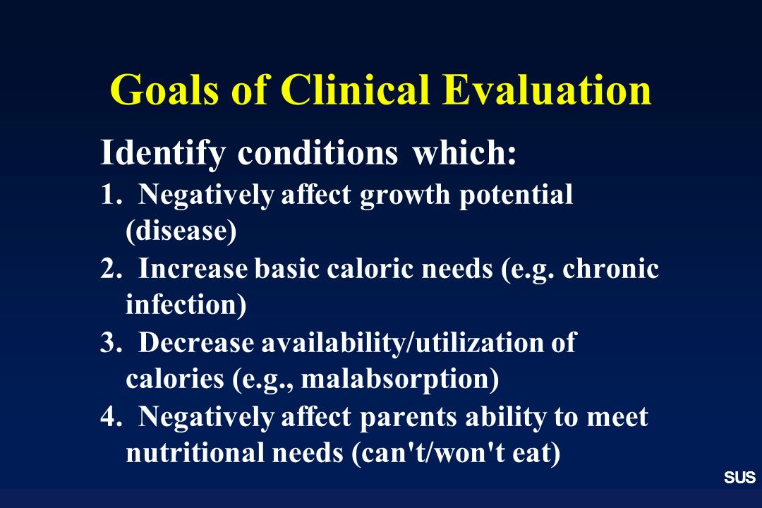 Goals of Clinical Evaluation