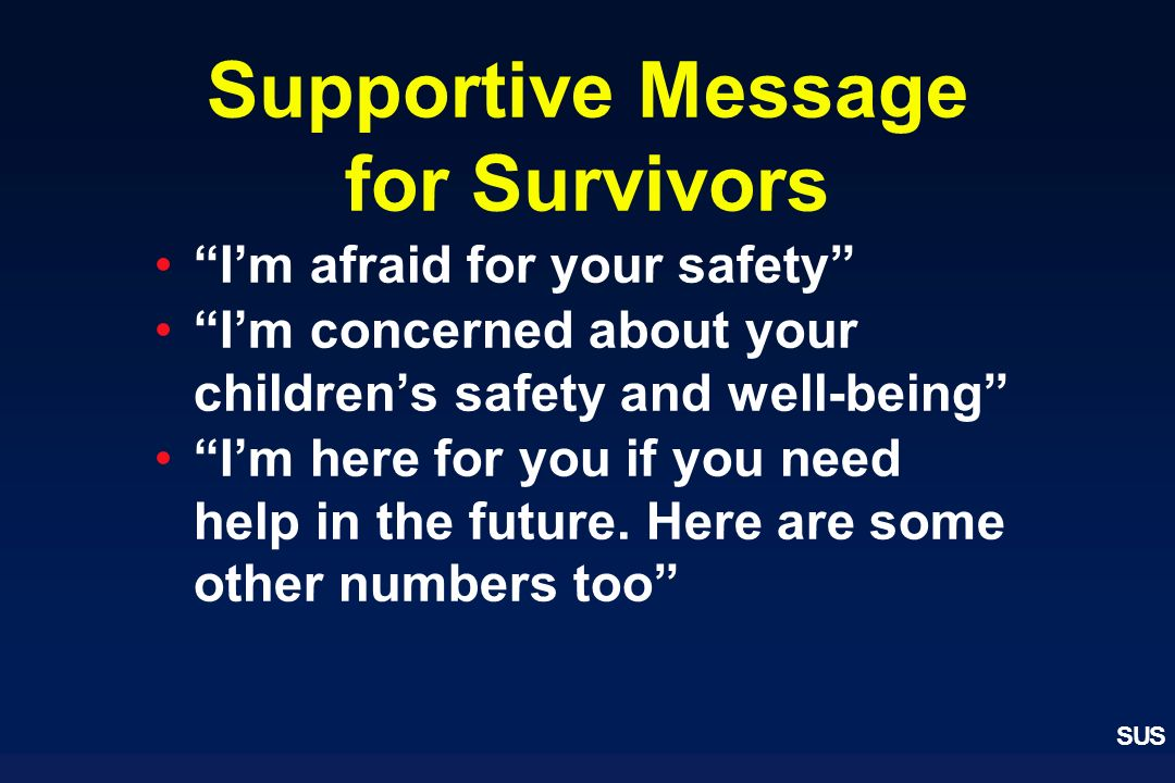 Supportive Message for Survivors