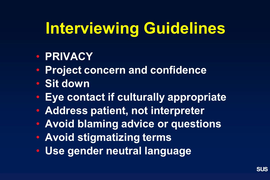 Interviewing Guidelines