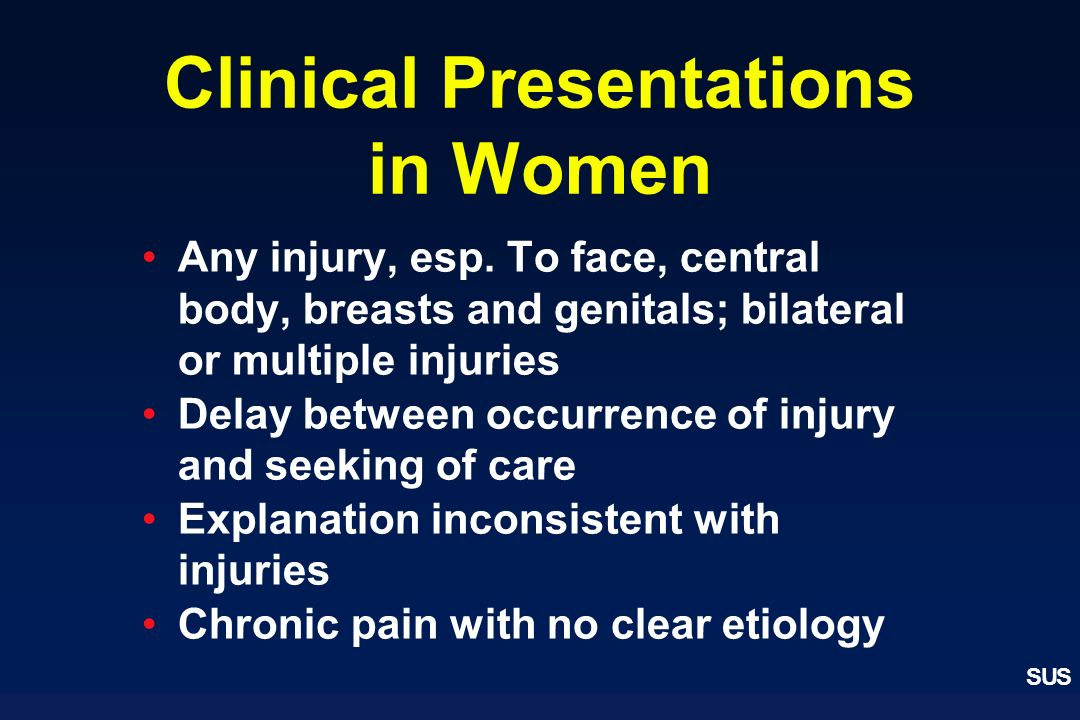 Clinical Presentations in Women
