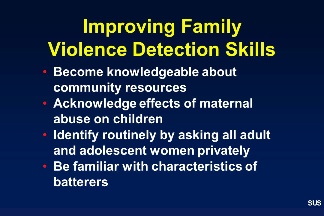 Improving Family Violence Detection Skills