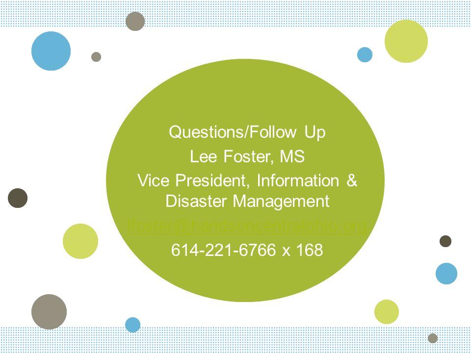 Vice President, Information & Disaster Management