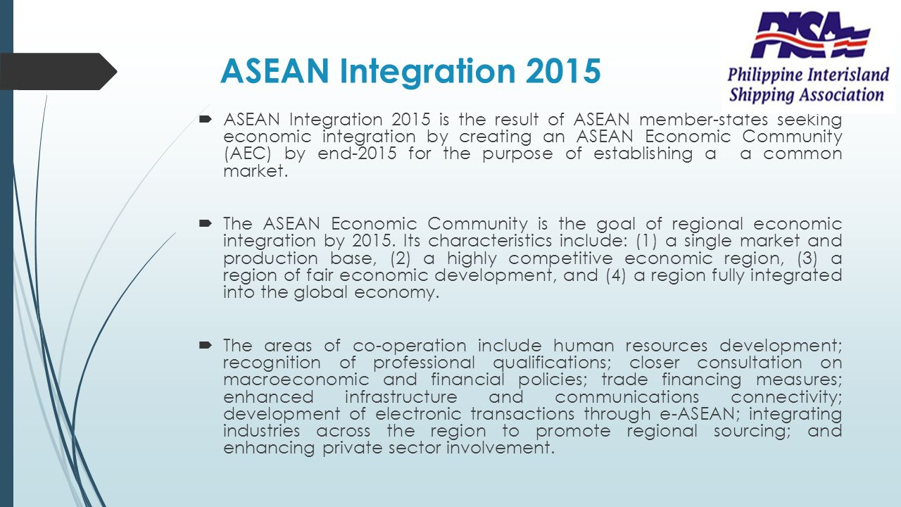 asean economic integration 2015 essay Asean's regional role and relations offering the prospect of deeper economic integration and asean as an integrated economic region between 2008 and 2015.