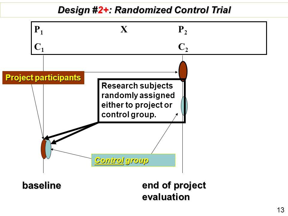 Design #2+: Randomized Control Trial