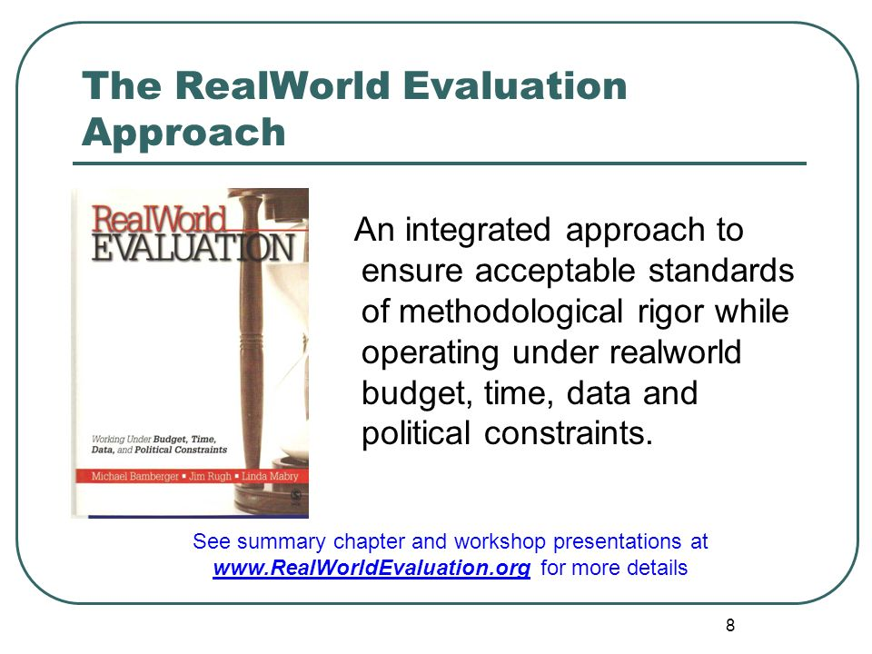 The RealWorld Evaluation Approach