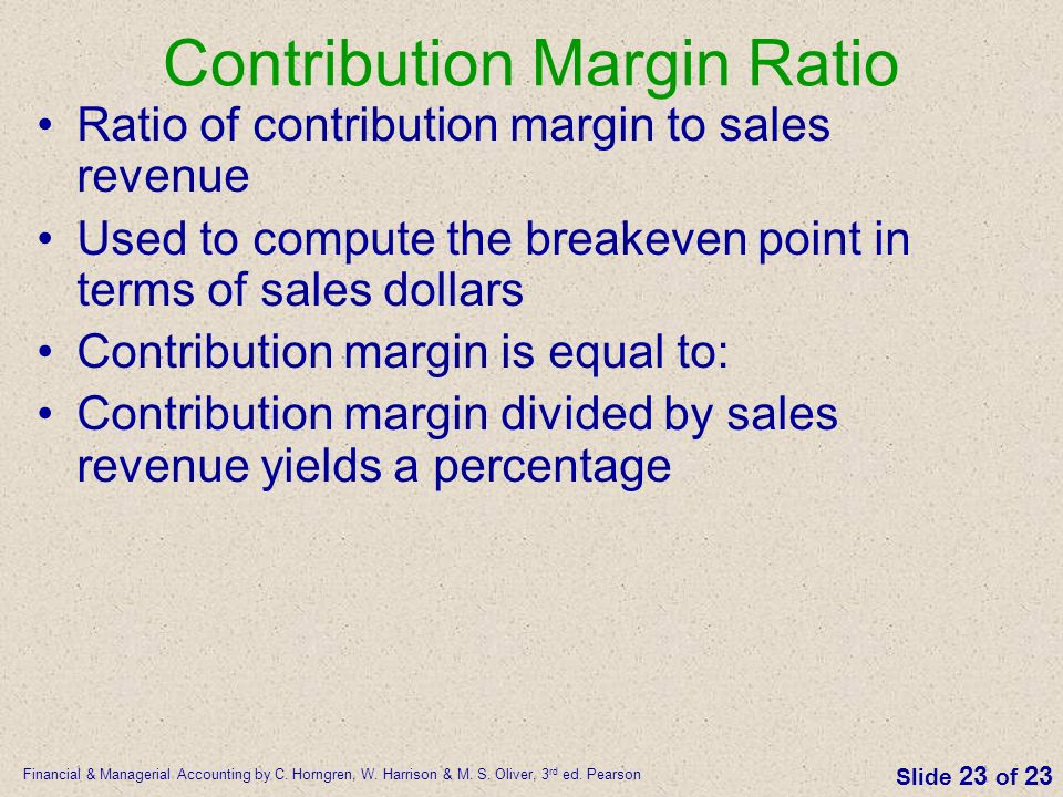 what percentage of the contribution margin is profit on units sold in excess of the breakeven point Contribution margin ratio equals contribution margin expressed as a percentage profit contribution margin (cm) ratio margin ratio while breakeven units.